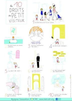 10 droits petits visiteurs mom art