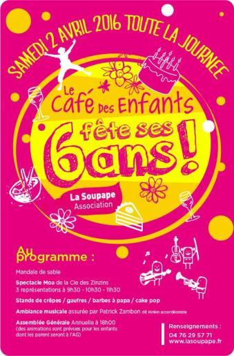 affiche 6 ans café des enfants