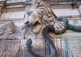 lion et serpent